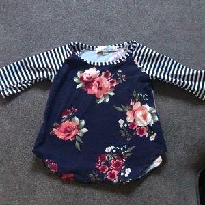 Little Girls 3/4 sleeve shirt